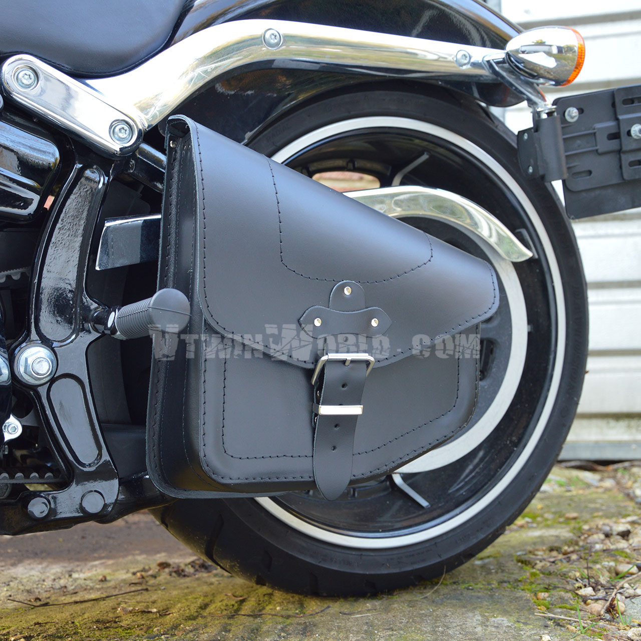 HARLEY DAVIDSON SOFTAIL BREAKOUT FATBOY BLACK LEATHER ...